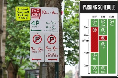 Sydney's Mosman Council proposes NY-styled redesign of parking signs
