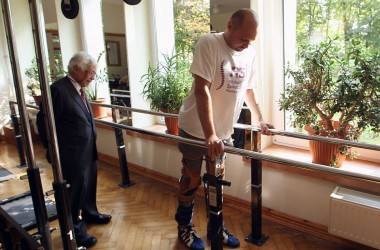 Paralysed man walks again after a landmark operation